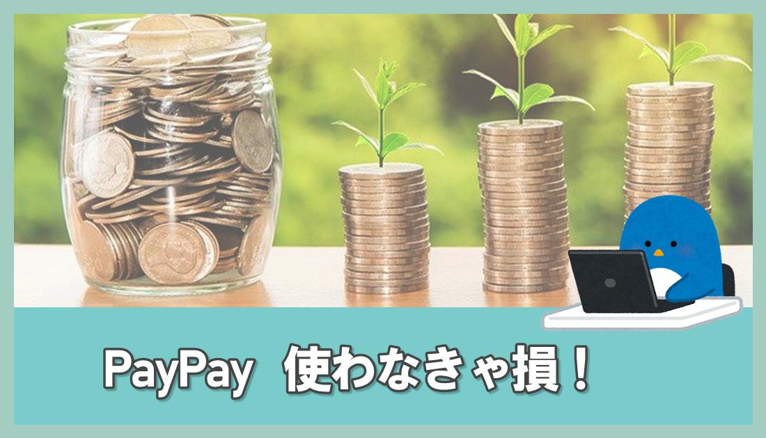 PayPay 使わなきゃ損!